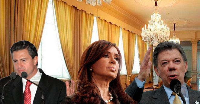 Cortinas de $600 millones y otros lujos de los mandatarios latinoamericanos