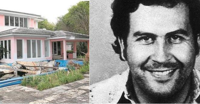 Denuncian robo en la mansión de Pablo Escobar en Miami