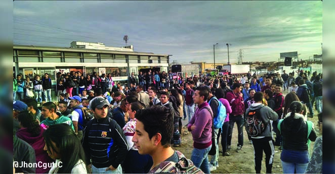 Disturbios en Soacha por servicio de Transmilenio