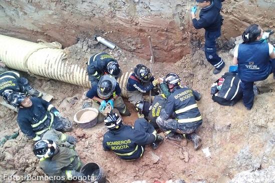 Muere empleado del acueducto atrapado por un alud de tierra