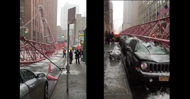 Una persona muerta y doce heridas dejó la caída de una grúa en Nueva York