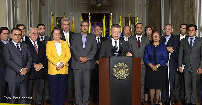 En alocución, Santos reitera que Colombia no comparecerá ante la CIJ