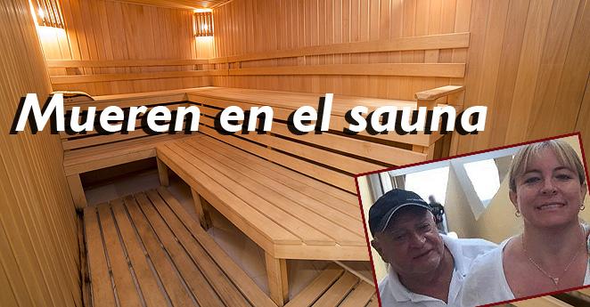 Esposos mueren atrapados dentro del sauna de su edificio