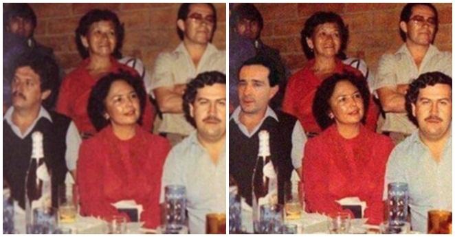Furia por fotomontaje de Uribe con Pablo Escobar