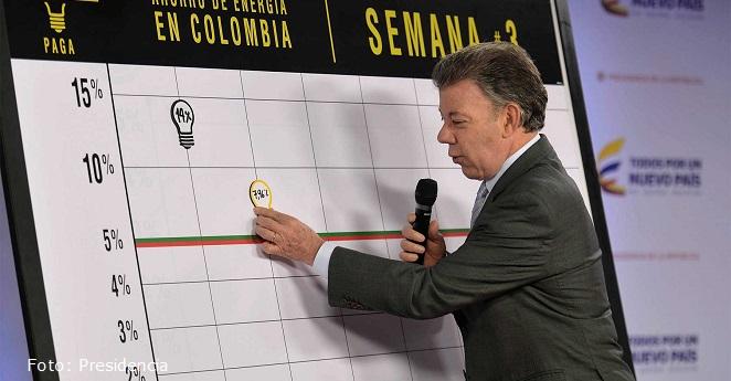 El sábado santo, Colombia ahorró un 13,02% de energía