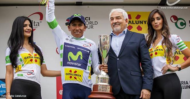Nairo Quintana se crece entre los grandes