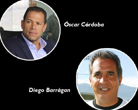 Oscar Cordoba y Diego Barragan