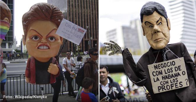 Santos y Dilma, los mandatarios más impopulares de Suramérica