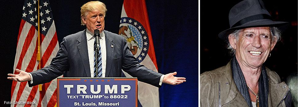 Cuando Keith Richards amenazó a Donald Trump con un cuchillo