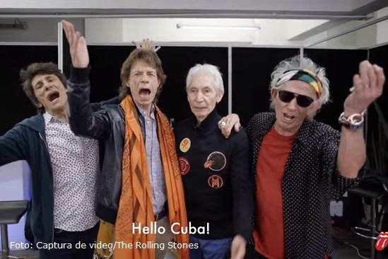 (Video) El mensaje que Rolling Stones le envió a los Cubanos