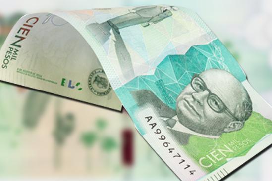 Billete de cien mil pesos