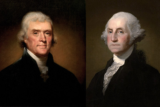 Tomas Yeferson y George Washington