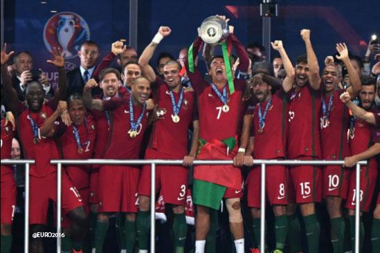 Portugal sin CR7 en la cancha logra ser campeón de la Eurocopa