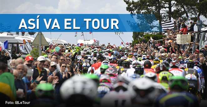 Cuarta etapa y así van los colombianos en el Tour de Francia