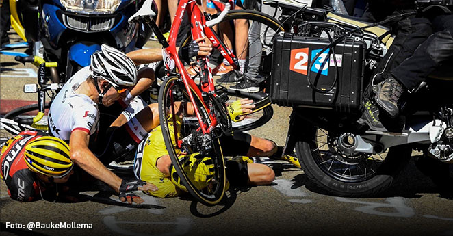 Las caídas más impactantes del Tour de Francia