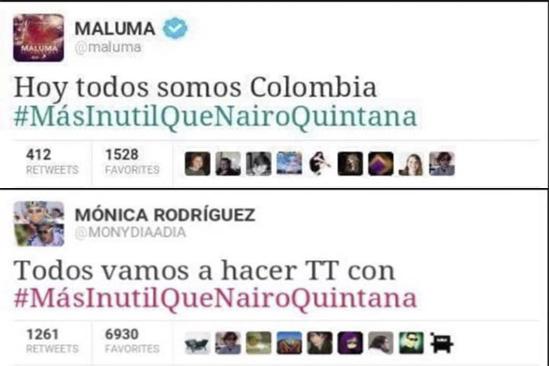 Monica Rodriguez y Maluma