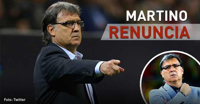 Sigue la crisis en la Selección Argentina: Martino renunció