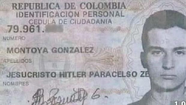 Jesucristo Hitler, colombiano tiene uno de los nombres más ridículos del mundo