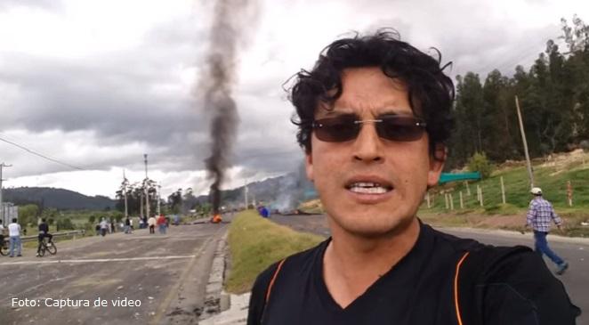 """""""Tengo miedo"""": El youtuber boyacense que habla duro del paro camionero"""