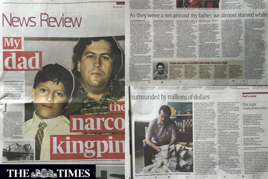 Pablo Escobar The Sunday Times