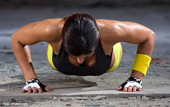 Alt ejercicio flexiones, pesa