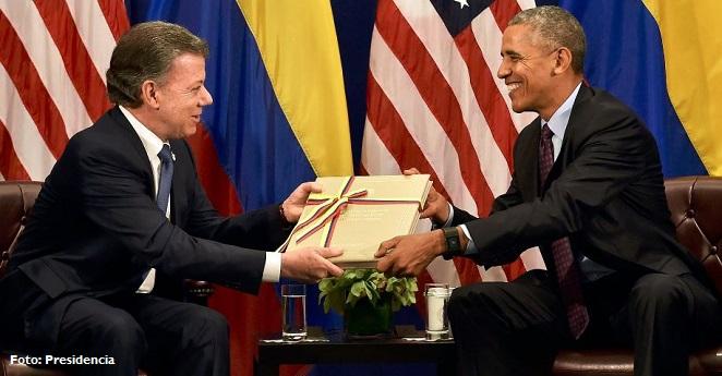 Obama se siente orgulloso de haber apoyado el proceso de paz de Colombia