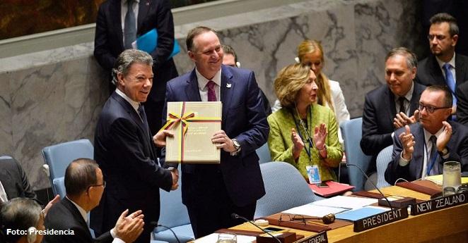 Les hemos cumplido a los colombianos y al mundo: Santos en la ONU