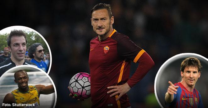 Estrellas del deporte celebran el cumpleaños de Francesco Totti