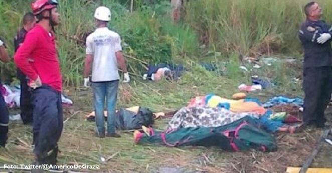 Al menos 11 muertos y 14 lesionados deja accidente en Venezuela
