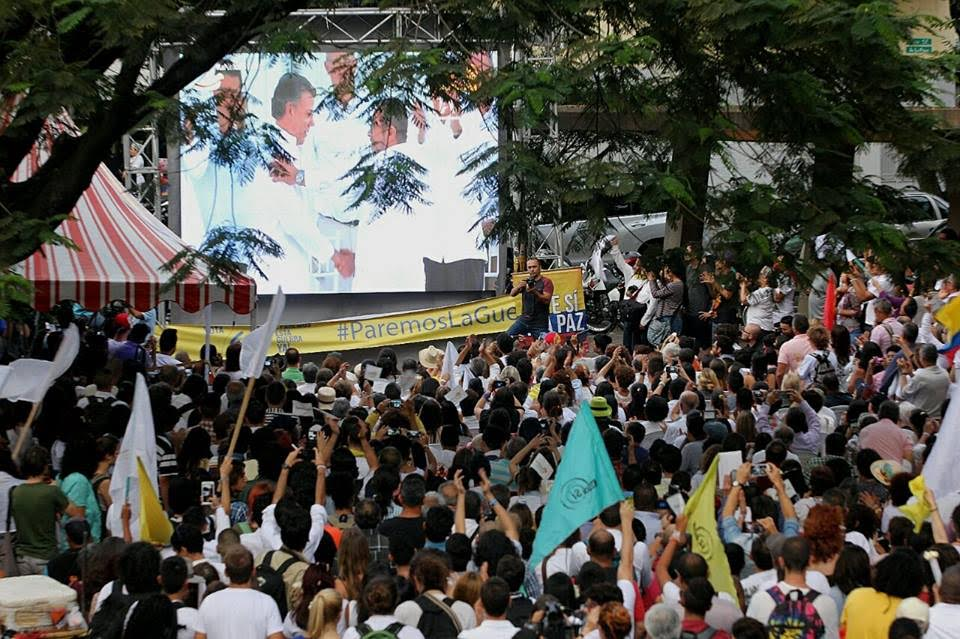 Medellín vivió una gran fiesta con la firma de la paz