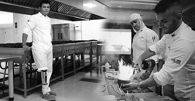 Exguerrilleros y exsoldados cocinan juntos por el perdón