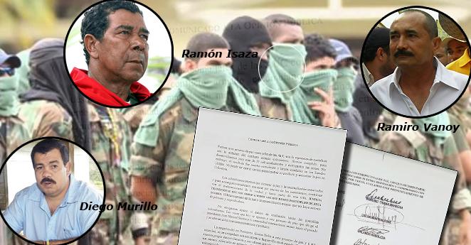 Los exjefes paramilitares de las AUC apoyan el SÍ al plebiscito