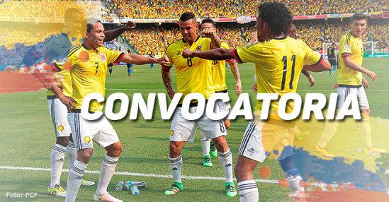 Convocatoria de Colombia para enfrentar a Paraguay y Uruguay