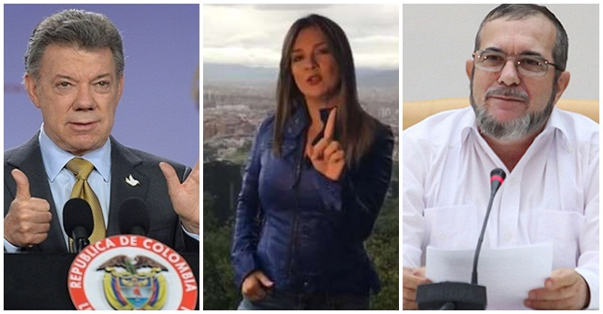 El mensaje de Vicky Dávila a Santos, Uribe y Timochenko