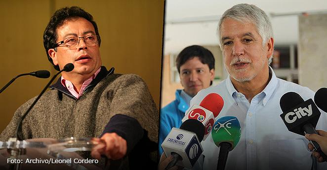 Gustavo petro y Enrique penalosa