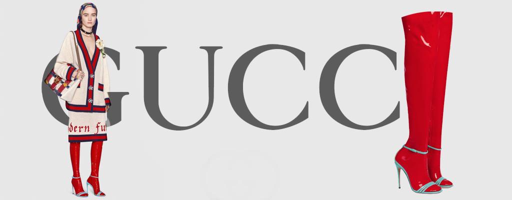 Gucci crea medias y calzado de látex