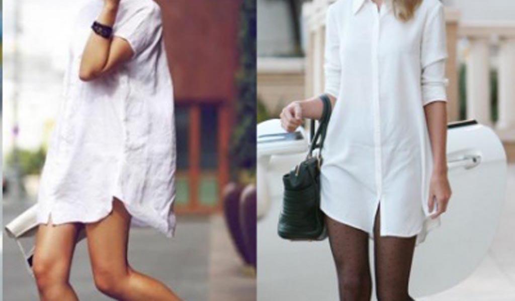 Camisa blanca larga