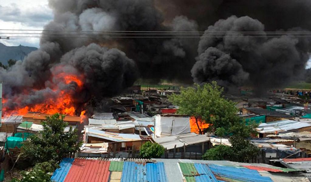 Grave incendio en Suba: 1000 personas afectadas