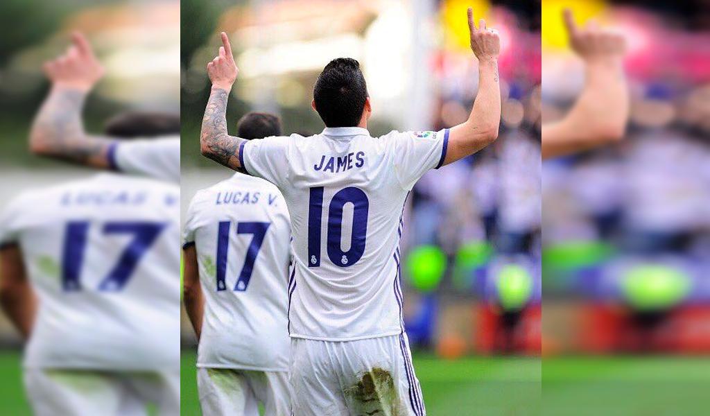 Doblete de James Rodríguez con el Real Madrid
