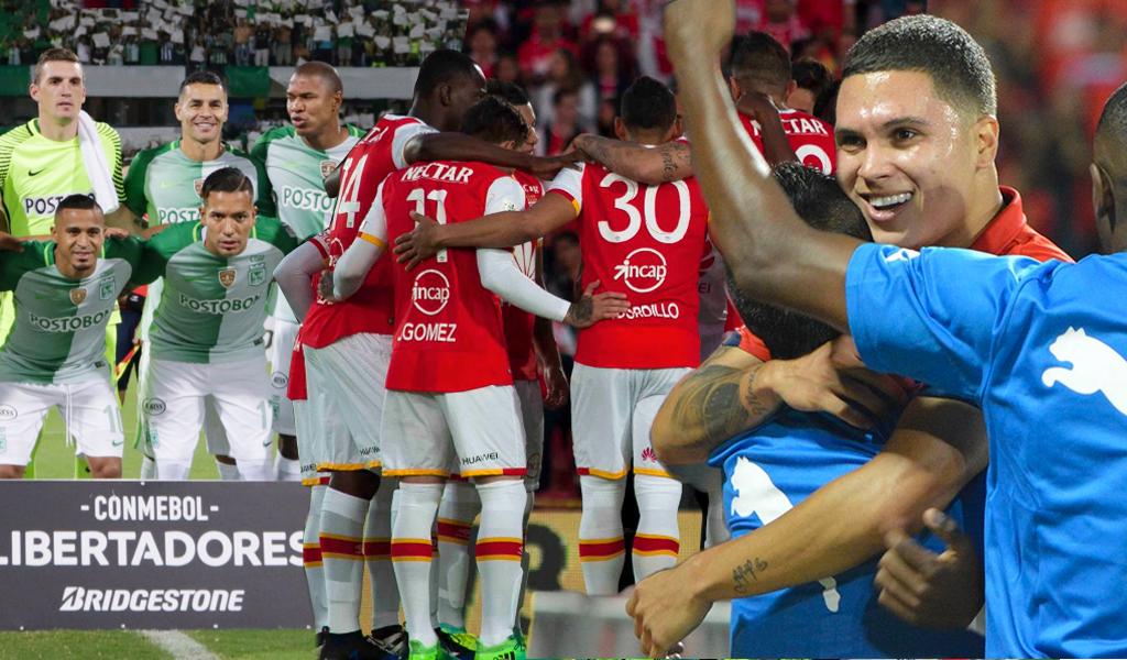 Las cuentas de los equipos colombianos en Copa Libertadores