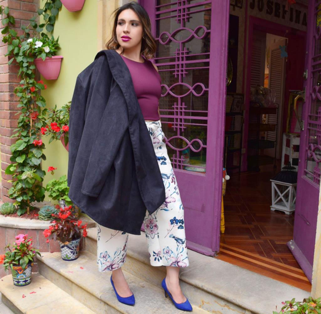 Prints florales, top moda, bloguera, Bogota