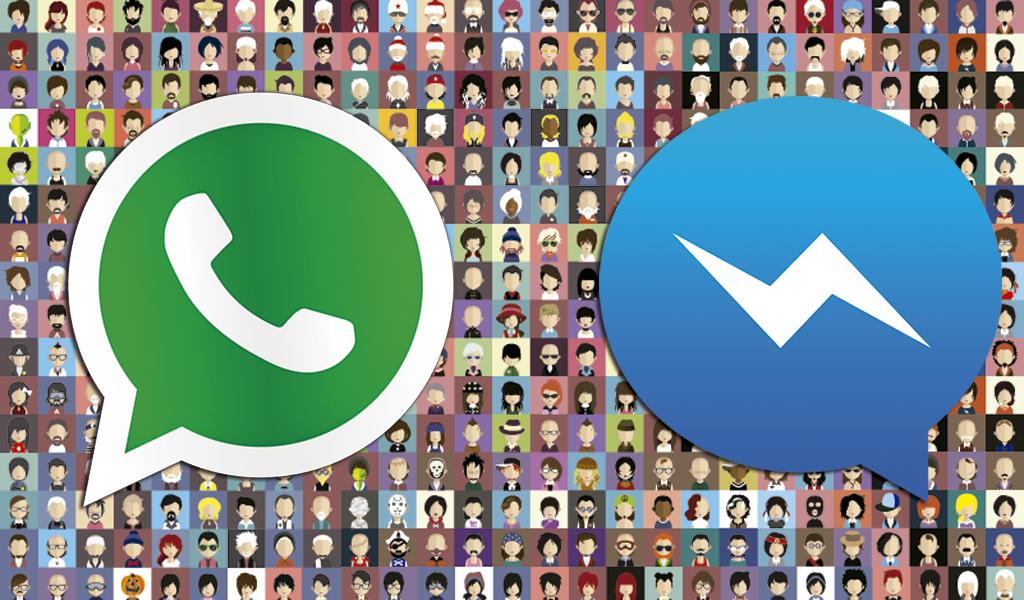 Facebook Messenger alcanza en usarios a WhatsApp