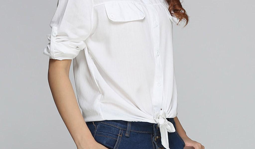 camisa Blanca nudos