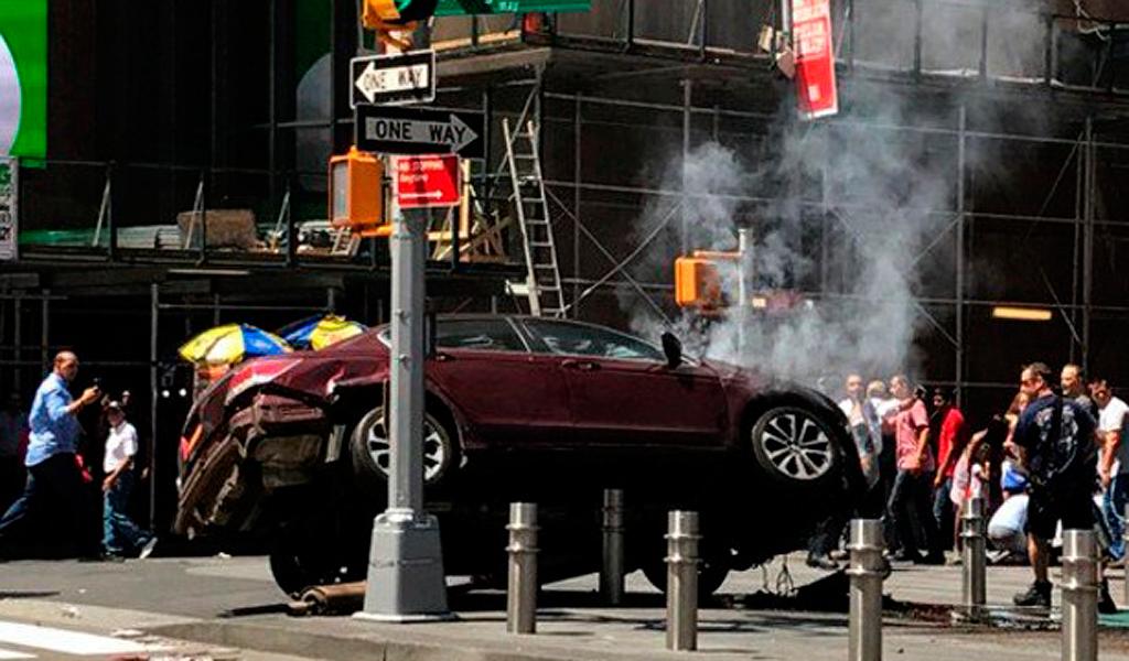 19 personas heridas por un auto en Nueva York