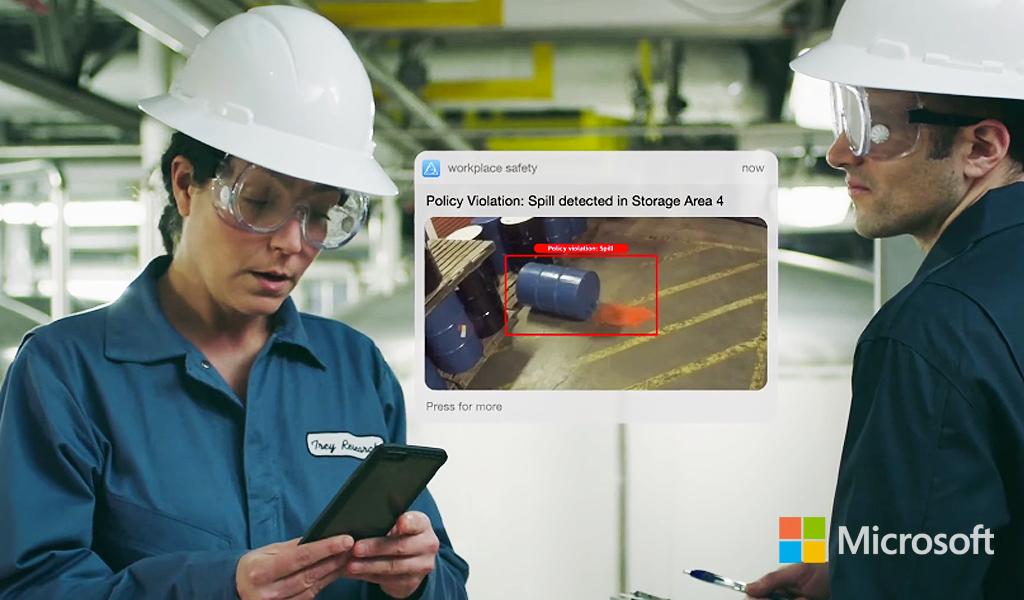 Microsoft y la cámara que previene accidentes laborales