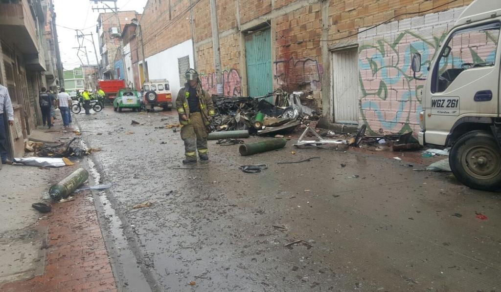 Una persona muerta por explosión en el sur de Bogotá