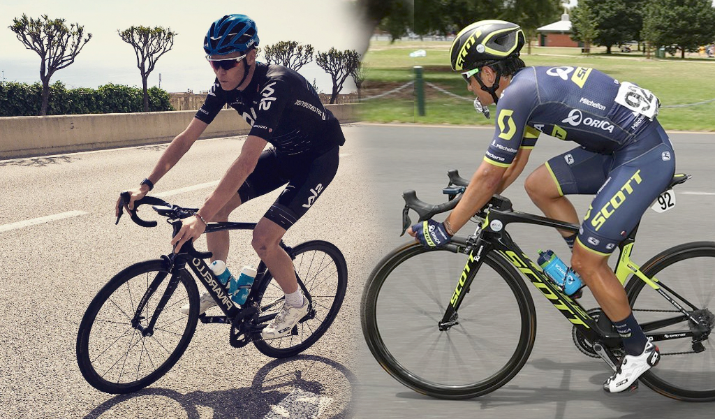 Froome y Esteban Chaves