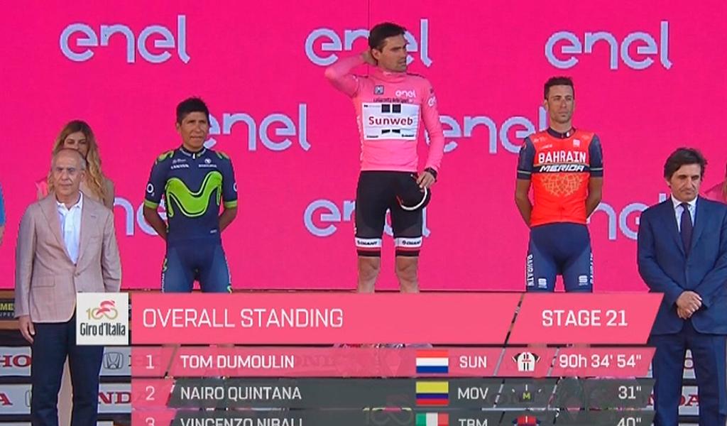 Nairo Quintana podio Giro