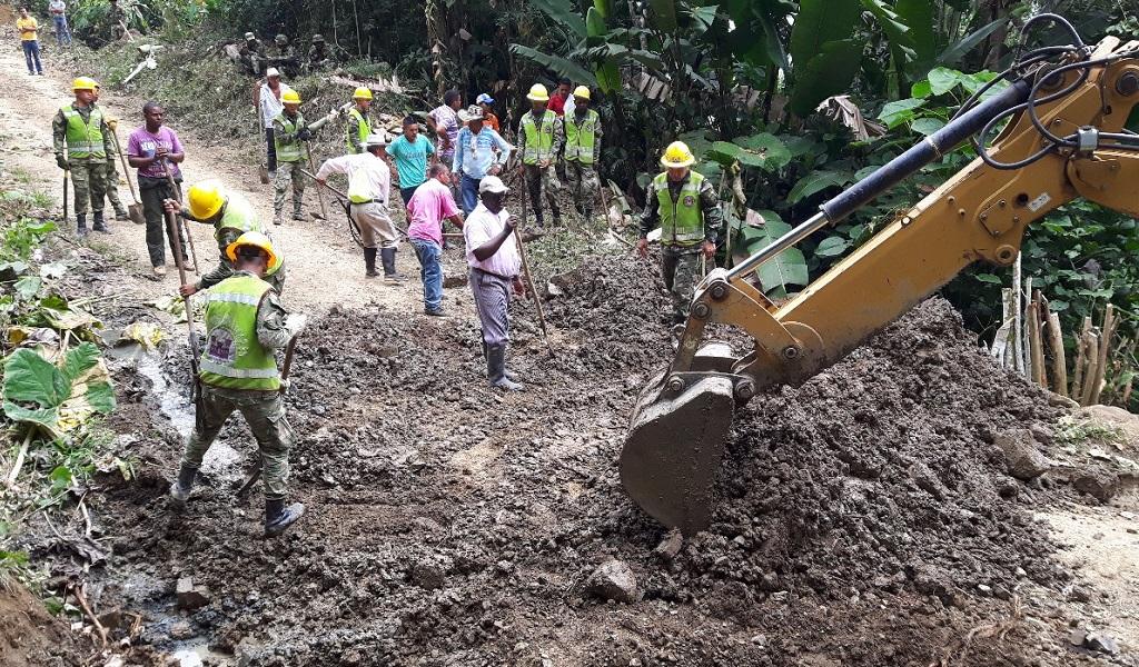 Ejército construcción carretera