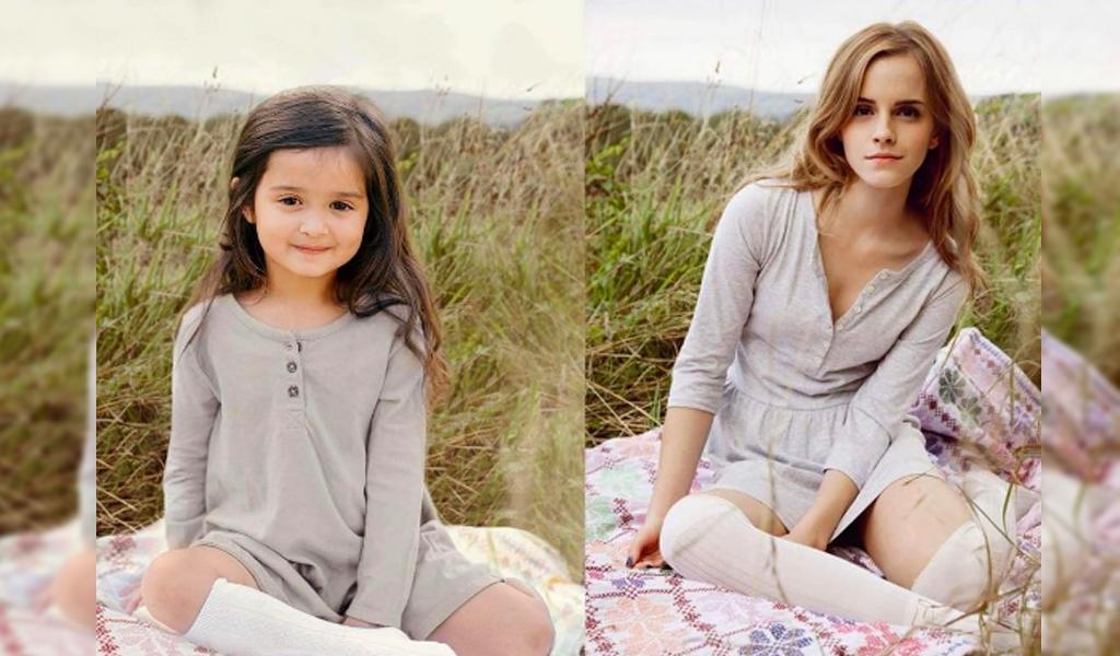La niña de 3 años que se toma fotos como las celebridades